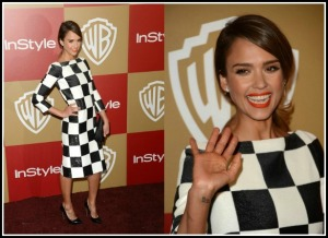 Black and white's just not for cutesy pie Jessica Alba